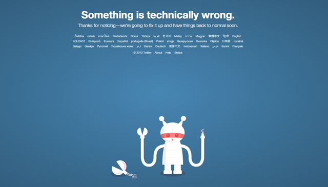 twitter down, twitter outage