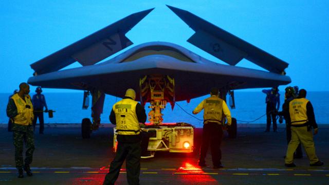 drone, navy, uss george h.w. bush