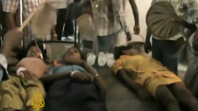 Poisoned children laying in hospital (image courtesy of YouTube)
