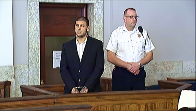 aaron hernandez, court, appearance, july 24, 2013