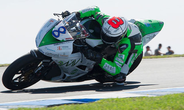 Andrea Antonelli, in action during the Supersport FIM World Championship at Phillip Island (Getty)