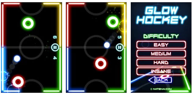 best android arcade games glow hockey