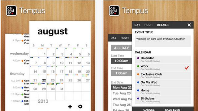 best calendar apps for iphone tempus calendar