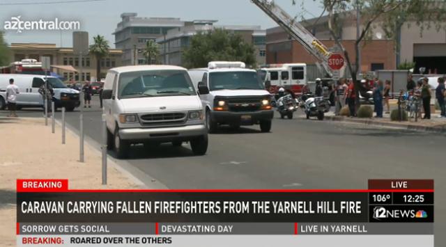 Bodies Arizona firefighters granite mountain hotshots