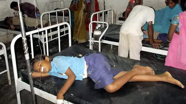 20 children die after eating school lunch in India (Image courtesy of Twitter)