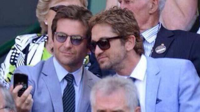 Bradley Cooper, Gerard Butler, Wimbledon, Andy Murray, Kim Sears, Selfies, Wimbledon, Match, Suits, Blue Suite, Matching Outfits