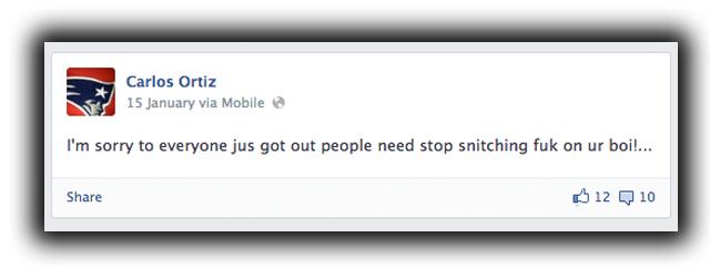 Carlos Ortiz Facebook Screenshot