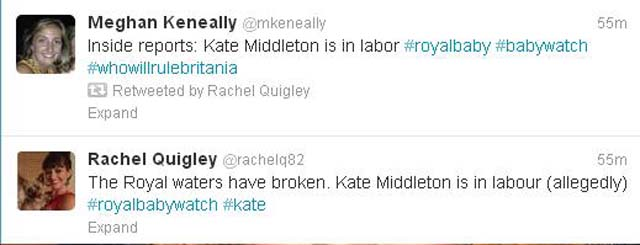 Kate Middleton Labor Prince William Royal Pregnancy Baby.