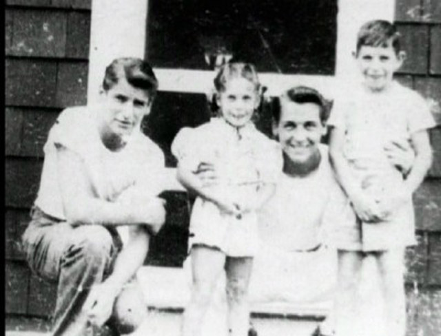 A young DeSalvo (left) with his family