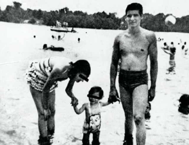 Albert DeSalvo with his daughter and wife Irmagard