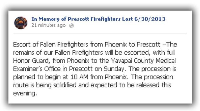 prescott arizona hotshots funeral
