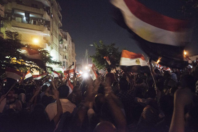 Protesters in Tahrir Square  (Getty Images)