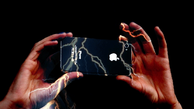 woman shocked by iphone 5