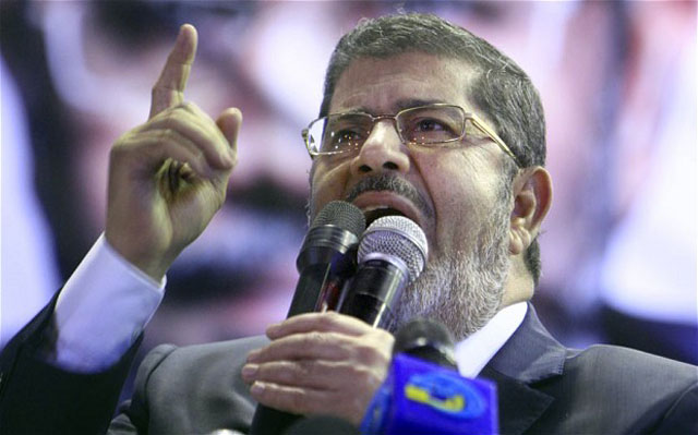 President Morsi, ousted from power July 3, 2013