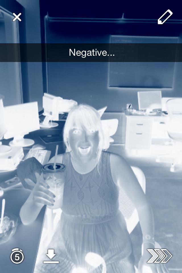 snapchat negative