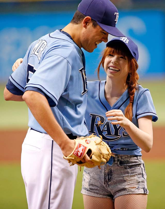 Carly Rae Jepson, Worst Pitch, First Pitch, Bababooey, Howard Stern, ESPN, Rays, Pitch, Disaster