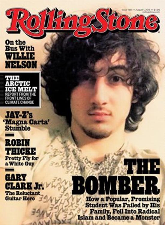 Rolling stone cover reactions