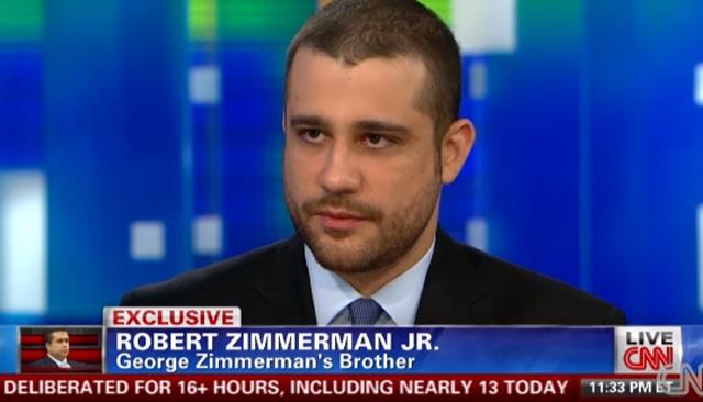 Robert Zimmerman George Zimmerman Piers Morgan Tonight CNN Garbage Tweets.