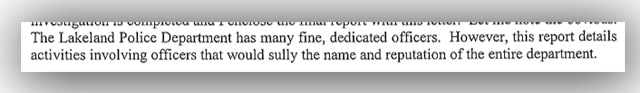 Section of State Attorney's introduction to case report