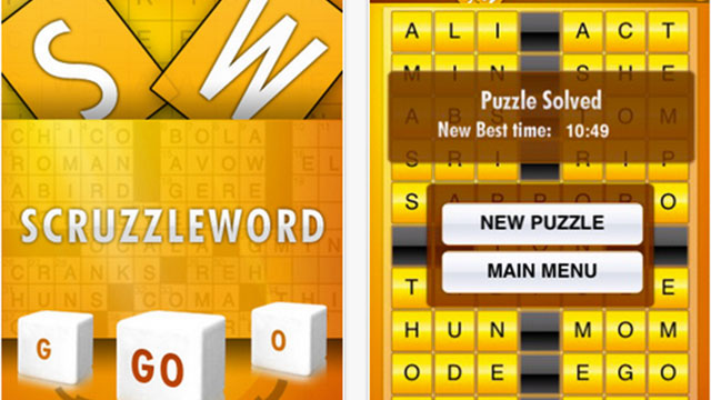 top best word games for iphone scruzzleword