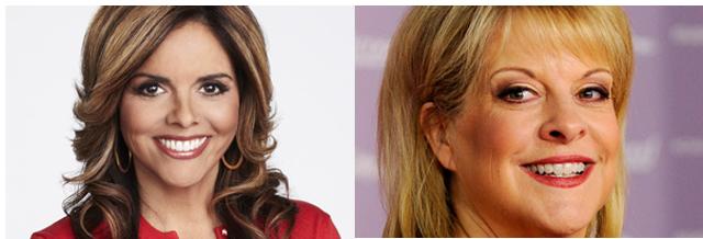 Velez-Mitchel (L) and Nancy Grace were targets for Simpson