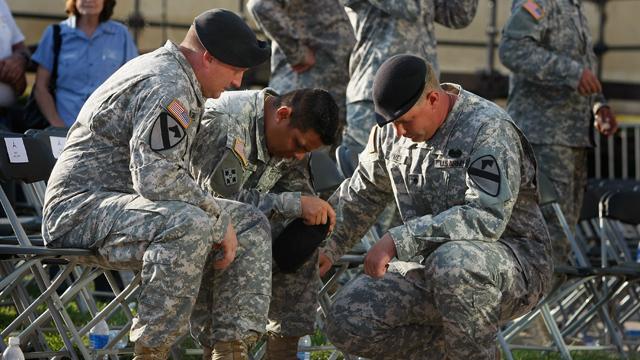 soldier, cry, mourn, shooting, dead, fort hood, dies