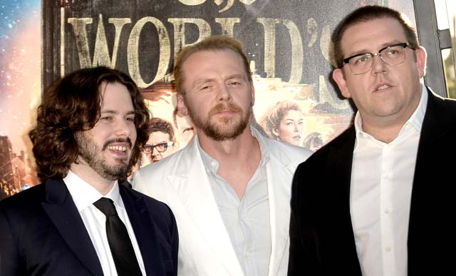 Simon Pegg Interview, Nick Frost Interview, The World's End Interview, Edgar Wright New Movie, Cornetto Trilogy Interviews.