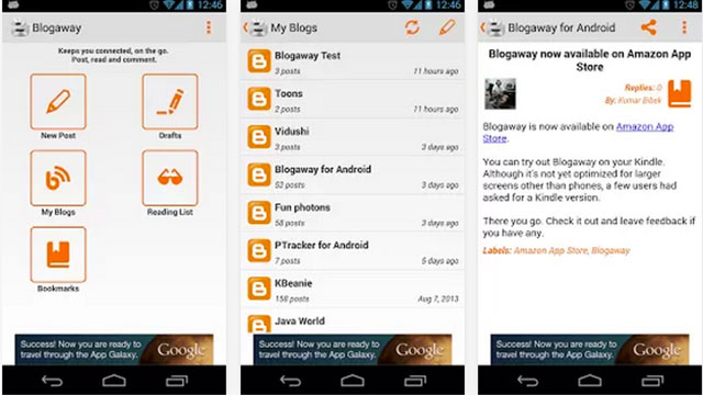 best blogging apps for android blogaway for android