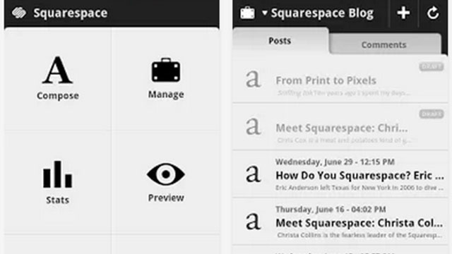 best blogging apps for android squarespace