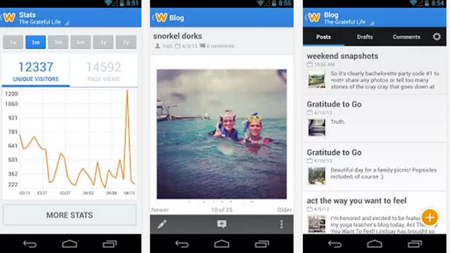 best blogging apps for android weebly