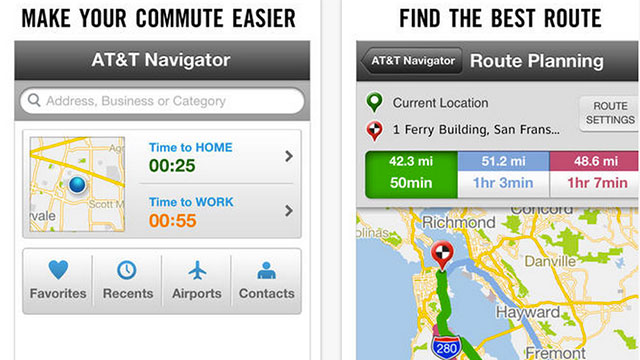 best gps apps for iphone and ipad at&t navigator