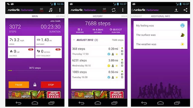 best health and fitness apps for android runtastic pedometer