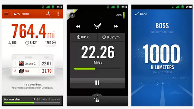 best health and fitness apps for android nike+ running