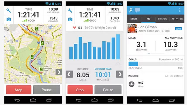 best health and fitness apps for android runkeeper gps track run walk