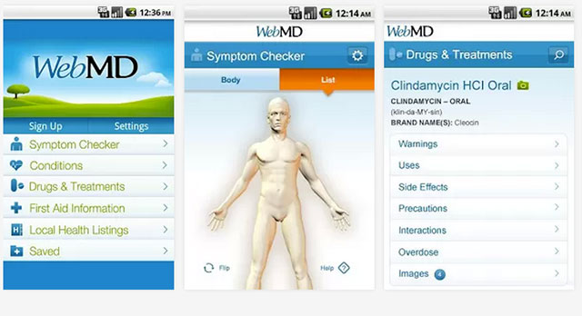 best health and fitness apps for android webmd