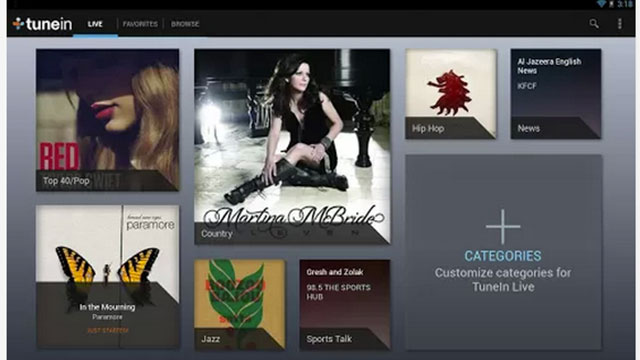 best music apps for android tunein radio