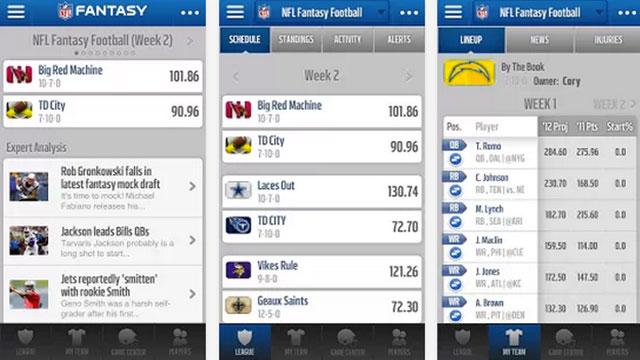 best nfl football apps for android nfl.com fantasy footballs 2013