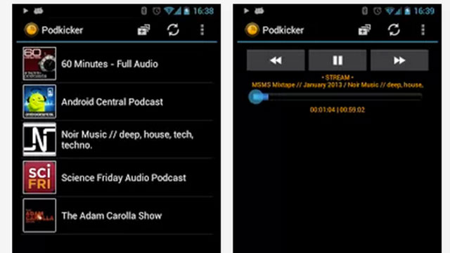 best podcast apps for android podkicker