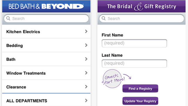 best wedding planning apps for android and iphone bed bath & beyond wedding gift & registry