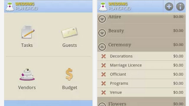 best wedding planning apps for android and iphone wedding plandroid
