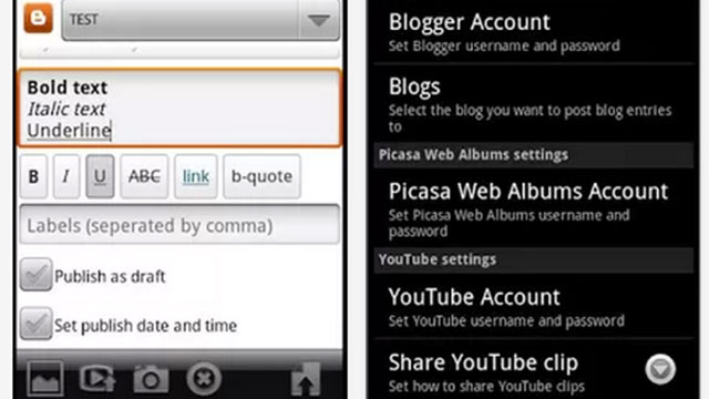 blogging apps for android blogger-droid