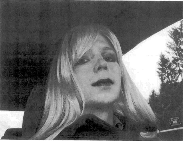 Bradley Manning dressed as a woman transgender