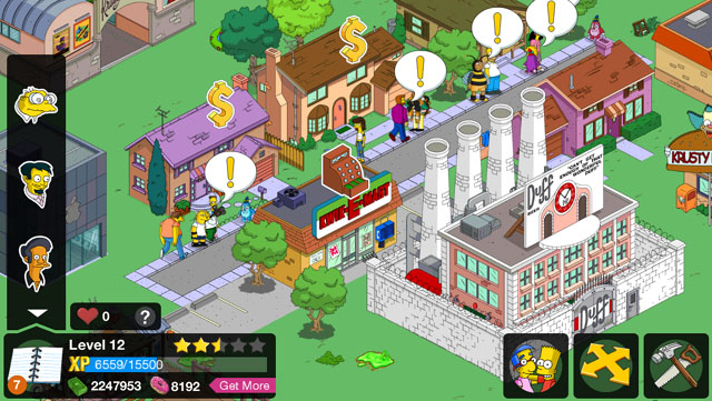 The Simpsons Tapped Out Tricks