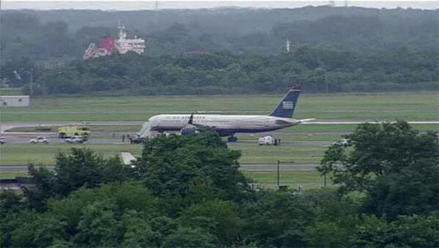 U.S Airways plane on the ground.