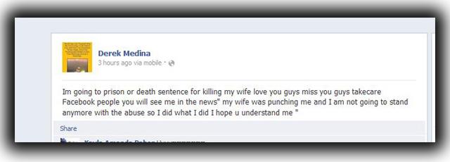 Derek medina wife Facebook murder Jennifer Alonso South Miami Facebook killer