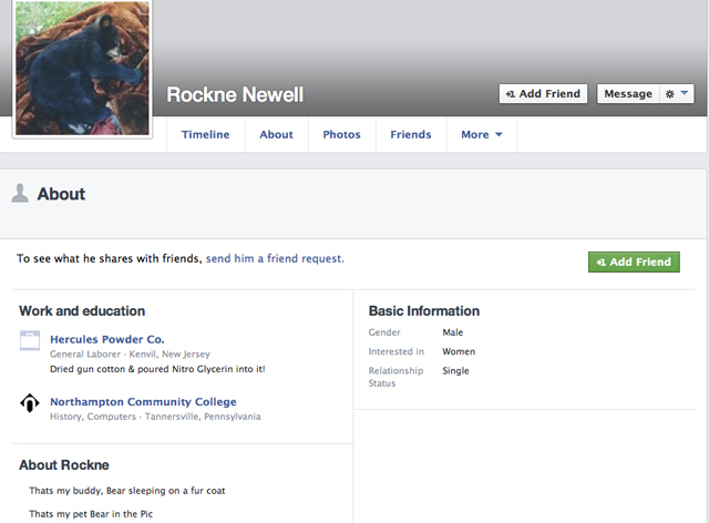Rockne Newell Facebook