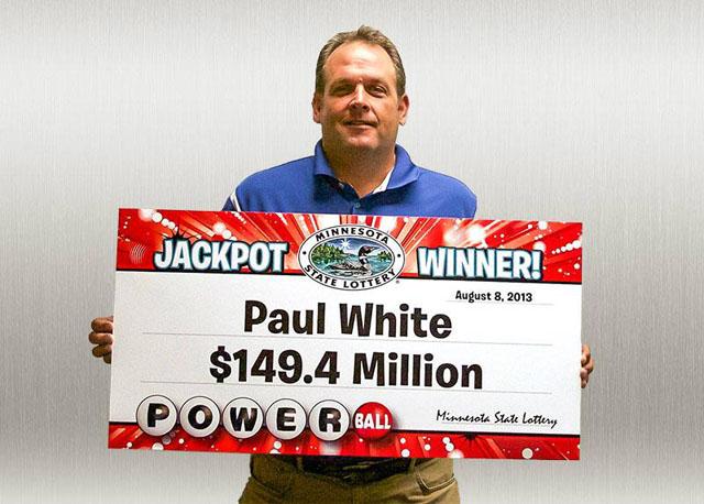 powerball winner Paul white