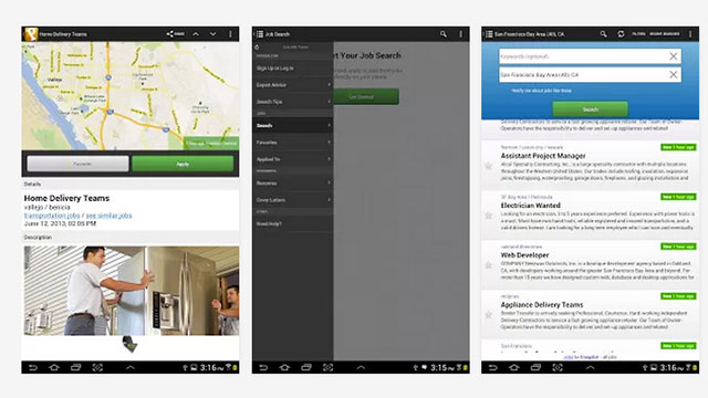 top android apps proven job search