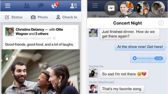 top ios app updates facebook