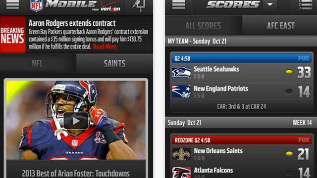 top ios app updates nfl mobile